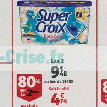 Lessive en Capsules Super Croix chez Auchan (16/10 – 22/10)