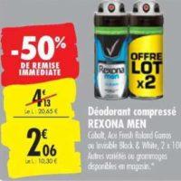 Déodorant Men Rexona chez Carrefour (22/10 – 28/10)