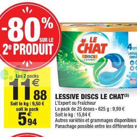 Lessive en Discs Le Chat chez Carrefour Market (05/11 – 17/11)