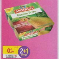 Dessert fruitier Andros chez Intermarché (15/10 – 20/10)