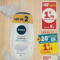Douche Crème Nivea chez Magasins U (08/10 – 19/10)