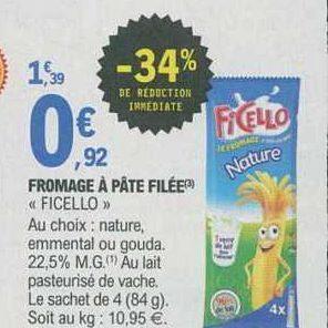 Fromage Enfants Ficello chez Leclerc Nord-Est (08/10 – 19/10)