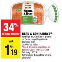 Pain Tranché Beau et Bon Harrys chez Carrefour Market (15/10 – 27/10)