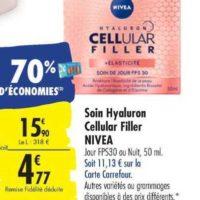 Crème Cellular Nivea chez Carrefour (15/10 – 28/10)