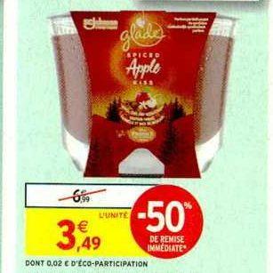 Bougie Parfumée Glade chez Intermarché (05/11 – 17/11)
