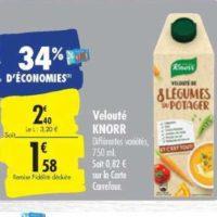 Soupe et C'est Tout Knorr chez Carrefour (22/10 – 28/10)