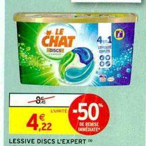 Lessive en Discs Le Chat chez Intermarché (05/11 – 17/11)
