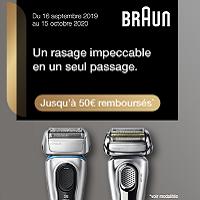 Offre de Remboursement Braun : Jusqu'à 50€ Remboursés sur un Rasoir