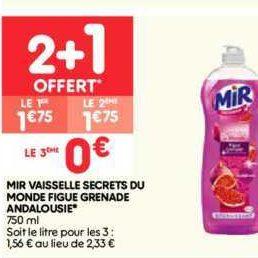 Liquide Vaisselle Mir chez Leader Price (22/10 – 03/11)