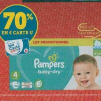 Couches ou Culottes Pampers chez Magasins U (15/10 – 19/10)