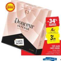 Café Moulu Douceur Intense Carte Noire chez Carrefour (15/10 – 21/10)