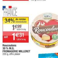 Fromage Roucoulons chez Cora (22/10 – 28/10)