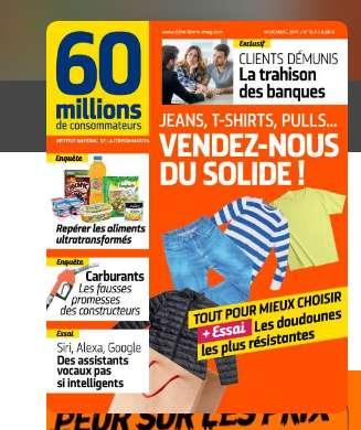 27€ l'abonnement d'un an à 60 millions de consommateurs