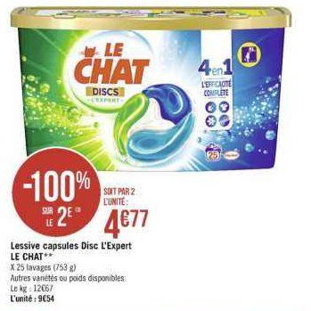 Lessive en Discs Le Chat chez Géant Casino (04/11 – 17/11)