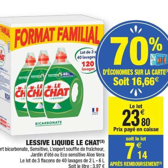 Lessive Liquide Le Chat chez Carrefour Market (05/11 – 17/11)