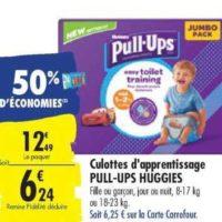 Culottes Pull-Ups Huggies chez Carrefour (22/10 – 28/10)