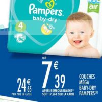 Couches Baby-Dry Pampers chez Carrefour Market (15/10 – 27/10)