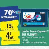 Lessive en Capsules Skip chez Carrefour (22/10 – 28/10)