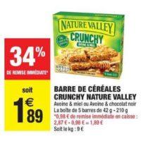 Barres de Céréales Nature Valley chez Carrefour Market (15/10 – 27/10)