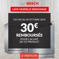 Offre de Remboursement Bosch / But : 30€ Remboursés sur Lave-vaisselle