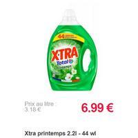 Lessive X-Tra Total+ Printemps partout (02/10 – 31/12)