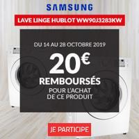 Offre de Remboursement Samsung / But : 20€ Remboursés sur Lave-linge