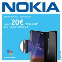 Offre de Remboursement Nokia : Jusqu'à 20€ Remboursés sur Smartphone 2.2