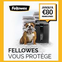 Offre de Remboursement Fellowes : Jusqu'à 80€ sur Plastifieuses et Destructeurs