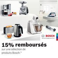 Offre de Remboursement Bosch : 15% Remboursés sur une Sélection de Produits