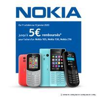 Offre de Remboursement Nokia : Jusqu'à 5€ Remboursés sur Téléphone 105, 130 ou 216