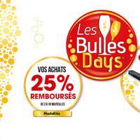 Offre de Remboursement Les Bulles Days : 25% Remboursés sur Volner, Muscador, Opéra et Veuve Amiot