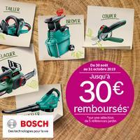 Offre de Remboursement Bosch : Jusqu'à 30€ Remboursés sur Outillage de Jardin