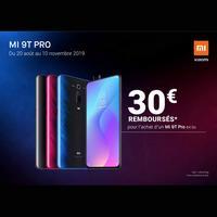 Offre de Remboursement Xiaomi : 30€ Remboursés sur Smartphone Mi 9T Pro 64 Go