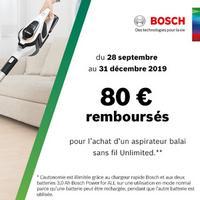Offre de Remboursement Bosch : 80€ Remboursés sur Aspirateur sans fil Unlimited