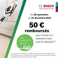 Offre de Remboursement Bosch : 50€ Remboursés sur Aspirateur sans fil Unlimited