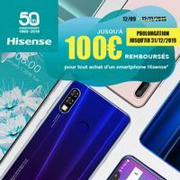 Offre de Remboursement Hisense : Jusqu'à 100€ Remboursés sur Smartphone Infinity