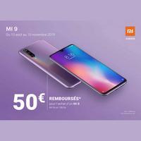 Offre de Remboursement Xiaomi : 50€ Remboursés sur Smartphone Mi 9