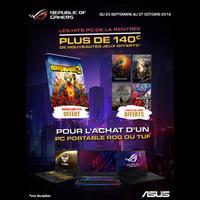 Bon Plan Asus : 140€ de Jeux Offerts