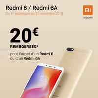 Offre de Remboursement Xiaomi : 20€ Remboursés sur Smartphone Redmi 6 & Redmi 6A