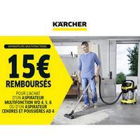 Offre de Remboursement Kärcher : 15€ Remboursés sur Aspirateur Multifonction ou Cendres et Poussières