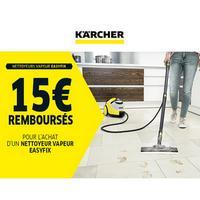 Offre de Remboursement Kärcher : 15€ Remboursés sur Nettoyeur vapeur EasyFix