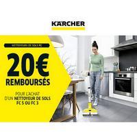 Offre de Remboursement Kärcher : 20€ Remboursés sur Nettoyeur de sols FC K