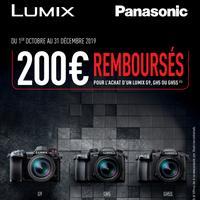 Offre de Remboursement Panasonic : 200€ Remboursés sur Appareil Photo Lumix G9, GH5 ou GH5s