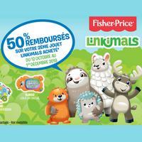 Offre de Remboursement Fisher-Price : 50% Remboursés sur le 2ème Jouet Linkimals