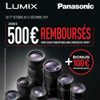 Offre de Remboursement Panasonic : Jusqu'à 600€ Remboursés sur Optique(s) Lumix