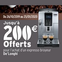 Offre de Remboursement DéLonghi : Jusqu'à 200€ sur Expresso Broyeur