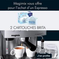 Bon Plan Magimix : 2 Cartouches Brita Offertes pour l'achat d'un Expresso