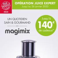 Bon Plan Magimix : Jusqu'à 140€ de Cadeaux pour l'achat d'un Juice Expert