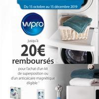 Offre de Remboursement Wpro : Jusqu'à 20€ Remboursés sur Kit de superposition ou Anticalcaire magnétique
