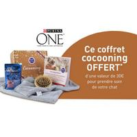 Bon Plan Purina : Coffret Cocooning Offert pour l'achat de 2 packs 3kg PURINA ONE®